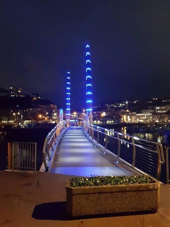 LED Illuminations Helps Light Up Torquay Harbour Bridge