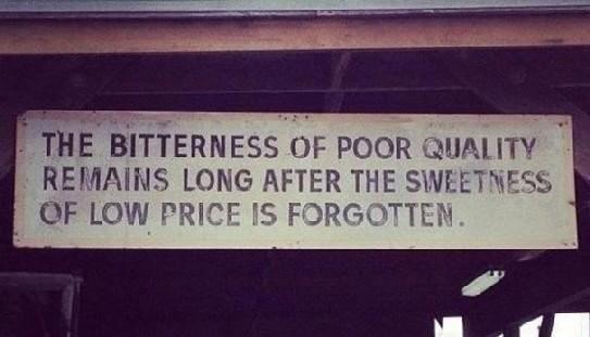 quality vs price